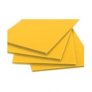 Tấm nhựa Danpla màu vàng kích thước theo yêu cầu